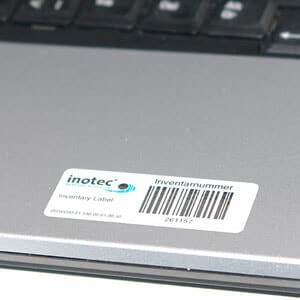 Label on Laptop